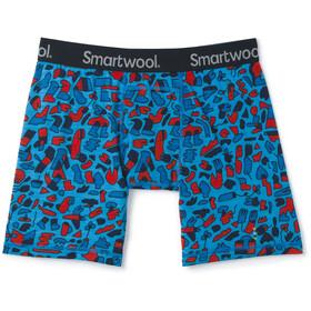 Smartwool Merino 150 Print Boxer Boxershorts Heren, ocean blue balabar print